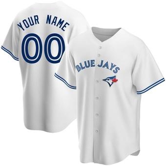 Youth Custom Toronto White Replica Home Baseball Jersey (Unsigned No Brands/Logos)