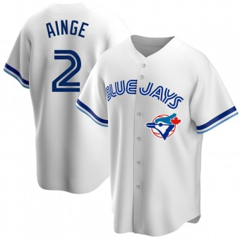 Youth Danny Ainge Toronto White Replica Home Cooperstown Collection Baseball Jersey (Unsigned No Brands/Logos)