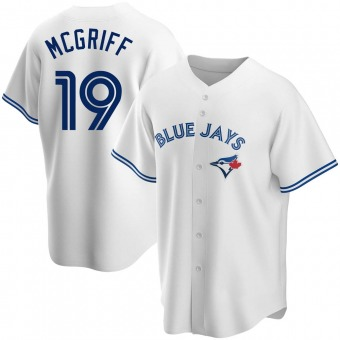 Youth Fred Mcgriff Toronto White Replica Home Baseball Jersey (Unsigned No Brands/Logos)