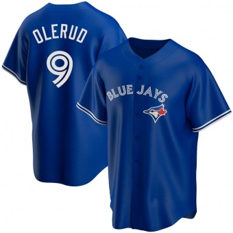 Youth John Olerud Toronto Royal Replica Alternate Baseball Jersey (Unsigned No Brands/Logos)