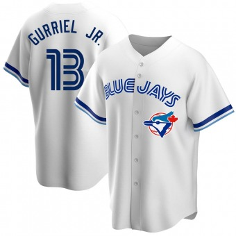 Youth Lourdes Gurriel Jr. Toronto White Replica Home Cooperstown Collection Baseball Jersey (Unsigned No Brands/Logos)