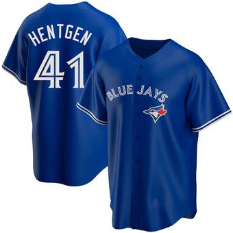 Youth Pat Hentgen Toronto Royal Replica Alternate Baseball Jersey (Unsigned No Brands/Logos)