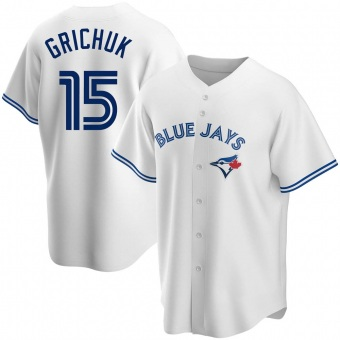 Youth Randal Grichuk Toronto White Replica Home Baseball Jersey (Unsigned No Brands/Logos)