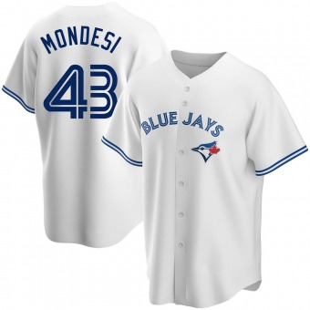 Youth Raul Mondesi Toronto White Replica Home Baseball Jersey (Unsigned No Brands/Logos)