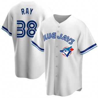 Youth Robbie Ray Toronto White Replica Home Cooperstown Collection Baseball Jersey (Unsigned No Brands/Logos)