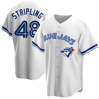 Youth Ross Stripling Toronto White Replica Home Cooperstown Collection Baseball Jersey (Unsigned No Brands/Logos)