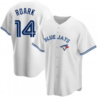 Youth Tanner Roark Toronto White Replica Home Baseball Jersey (Unsigned No Brands/Logos)