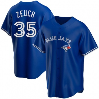 Youth T.J. Zeuch Toronto Royal Replica Alternate Baseball Jersey (Unsigned No Brands/Logos)