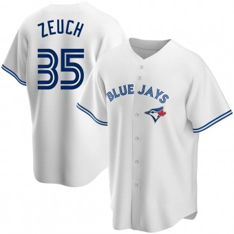Youth T.J. Zeuch Toronto White Replica Home Baseball Jersey (Unsigned No Brands/Logos)