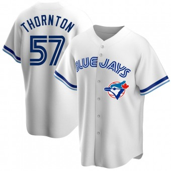Youth Trent Thornton Toronto White Replica Home Cooperstown Collection Baseball Jersey (Unsigned No Brands/Logos)